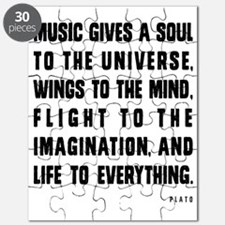 MUSIC GIVES A SOUL TO THE UNIVERSE Puzzle