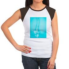 Human spine Women's Cap Sleeve T-Shirt