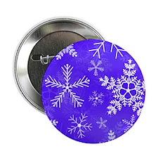 "Purple and White Snowflake Pattern 2.25"" Button"