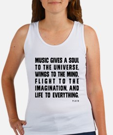 MUSIC GIVES A SOUL TO THE UNIVERS Women's Tank Top