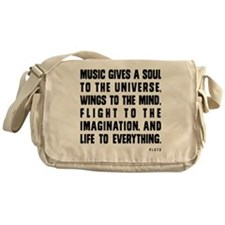 MUSIC GIVES A SOUL TO THE UNIVERSE Messenger Bag