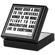 MUSIC GIVES A SOUL TO THE UNIVERSE Keepsake Box