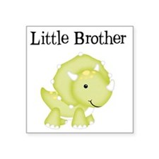 "Little Brother Dinosaur Square Sticker 3"" x 3"""