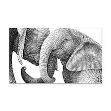 African Elephants Pillow Case Rectangle Car Magnet