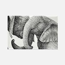 African Elephants Pillow Case Rectangle Magnet