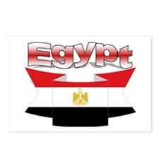 The Egypt flag ribbon Postcards (Package of 8)