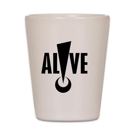ALIVE logo Shot Glass