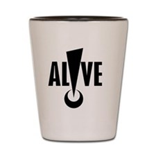 ALIVE logo Shot Glass