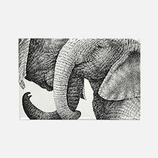 African Elephants 3x5 Rug Rectangle Magnet
