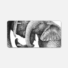African Elephants 3x5 Rug Aluminum License Plate