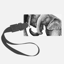 African Elephants 3x5 Rug Luggage Tag