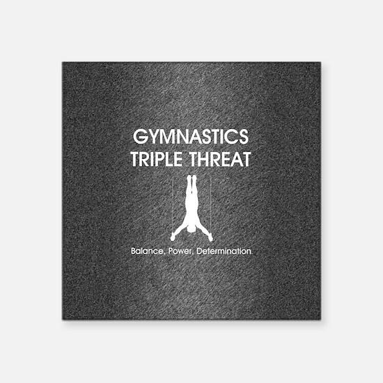 "gymnasticstriplemsq Square Sticker 3"" x 3"""