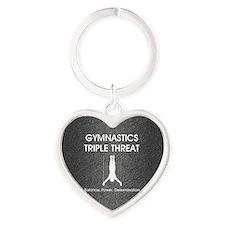 gymnasticstriplemsq Heart Keychain