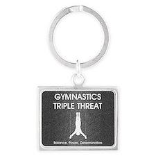 gymnasticstriplem1 Landscape Keychain