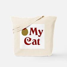 Olive My Cat Tote Bag