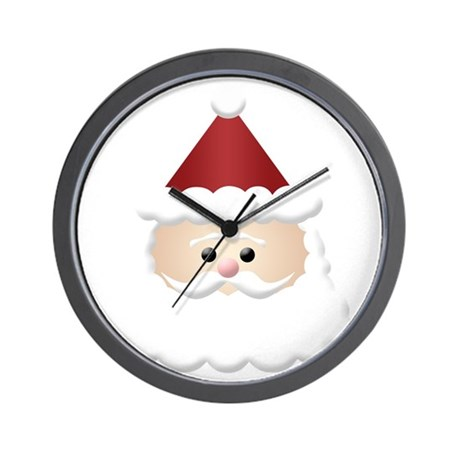 santa claus drawing Wall Clock by Admin_CP16710360