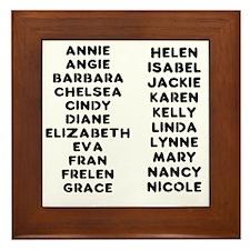The Crossfit Girls Framed Tile