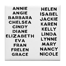 The Crossfit Girls Tile Coaster