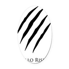 Apollo Rising Black Scratches Oval Car Magnet