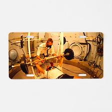 Hyperbaric training researc Aluminum License Plate