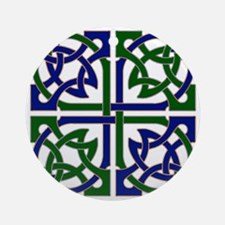 Celtic Knot Squared Round Ornament