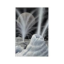 Ice volcanoes on Charon, artwork Rectangle Magnet