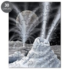 Ice volcanoes on Charon, artwork Puzzle
