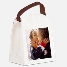 Identical twin boys Canvas Lunch Bag