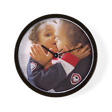 Identical twin boys Wall Clock