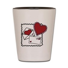 Valentines Letters Shot Glass
