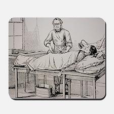 Illustration of 19th-century surgeon Tho Mousepad