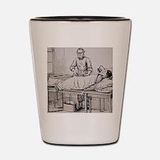 Illustration of 19th-century surgeon Th Shot Glass