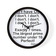OCD! Wall Clock