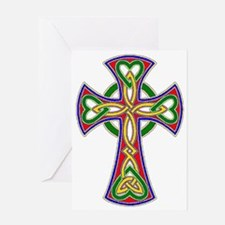 Primary Celtic Cross Greeting Card