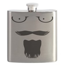 Rocker moustache mustache Flask