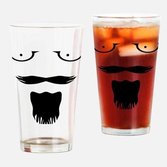 Rocker moustache mustache Drinking Glass