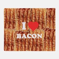 I love Bacon Throw Blanket