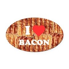 I love Bacon Oval Car Magnet