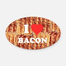 I love Bacon Oval Car Magnet