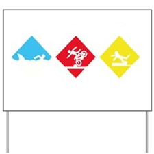 Triathlete Yard Sign