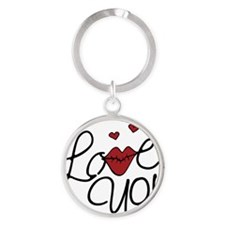 Love You Round Keychain