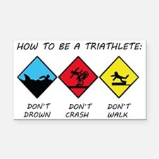 Triathlete Rectangle Car Magnet