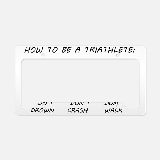 Triathlete License Plate Holder