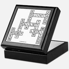 GIBSON SCRABBLE-STYLE Keepsake Box