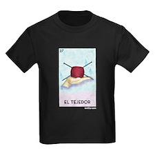 El Tejedor [for guy knitters] Kids Dark T-Shirt