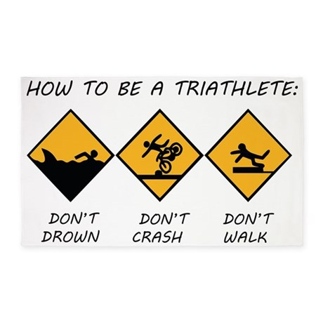 How To Be A Triathlete 3'x5' Area Rug