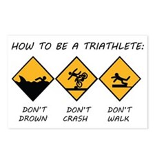 How To Be A Triathlete Postcards (Package of 8)