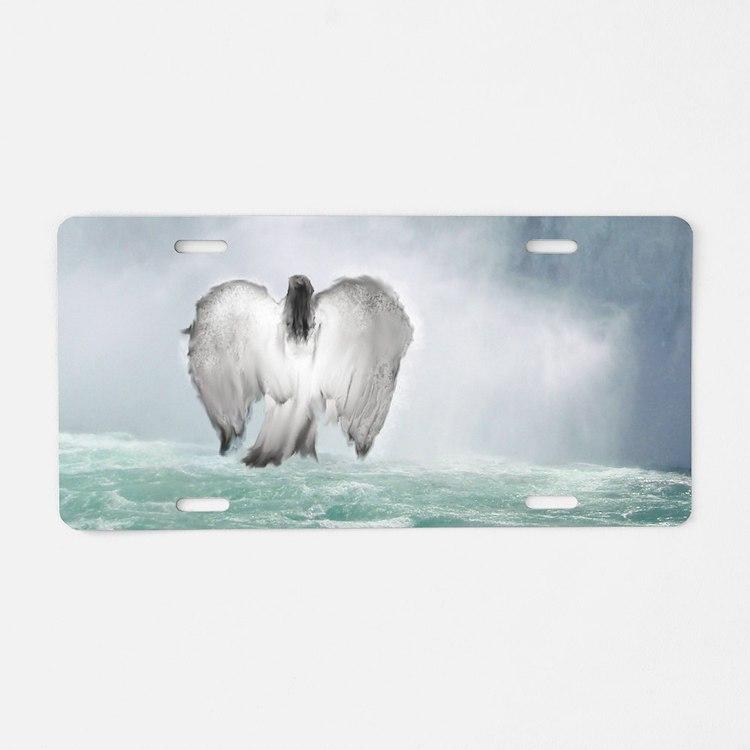 Angel walk Aluminum License Plate