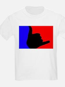 Blue/Red Shaka T-Shirt