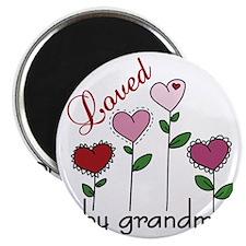 Loved By Grandma Magnet